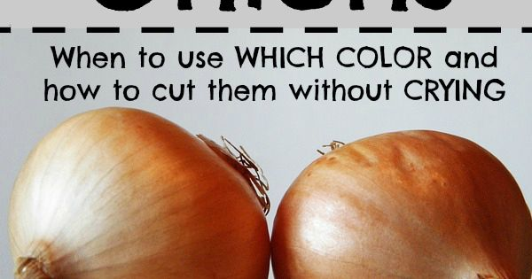 Good to know! I always wonder which color onion I'm supposed to