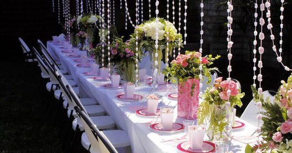 Love this! Looks so pretty. Could work for a wedding, adult tea