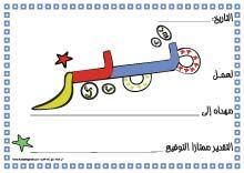 شهادات شكر للأطفال بشكل جديد ومميز منتدى النرجس Muslim Kids Activities Preschool Learning Activities Arabic Alphabet For Kids