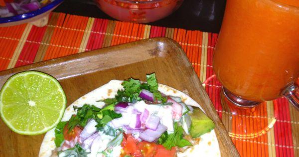 Baja fish tacos and papaya juice for dinner. So delicious! | Delicioso ...