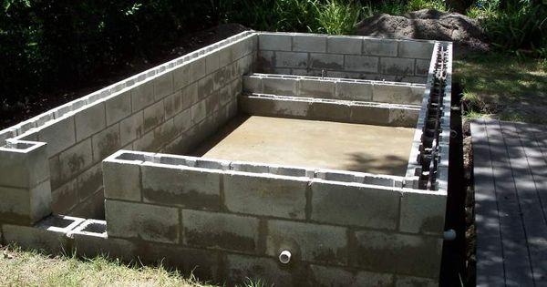 Concrete Block Pool Kits Concrete Block Puppy Pool In