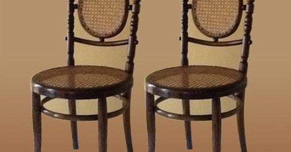 par de sillas de origen checoslovaco de la firma fischel by thonet circa 1913 excelente estado. Black Bedroom Furniture Sets. Home Design Ideas