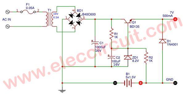 Simple Ups Circuit Diagram Eleccircuit Com Circuit Diagram Uninterruptible Power Supplies Circuit