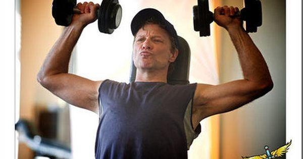 working out | Bon Jovi | Pinterest | Jon Bon Jovi, Bon Jovi and Gym