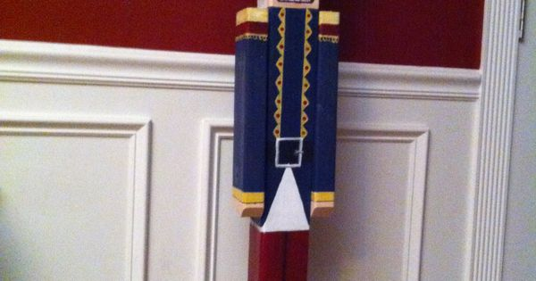 4 ft nutcracker made from 4x4 post home deco pinterest for 4 foot nutcracker decoration