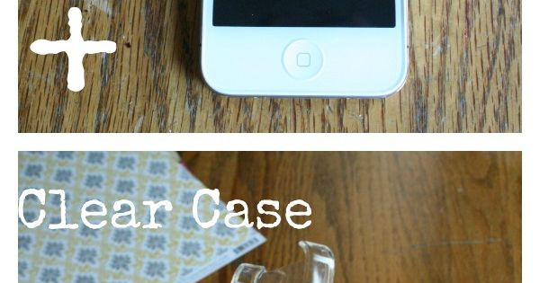 Scrapbook paper ipod case