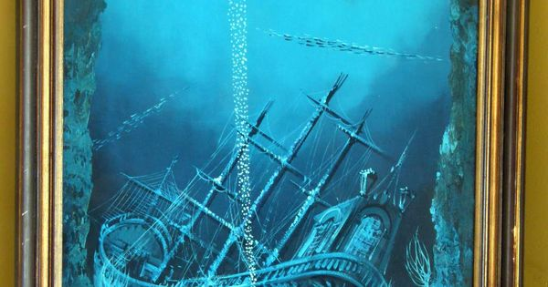 Pics For Gt Sunken Pirate Ship Painting Fight Fathoms