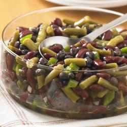 Three Bean Salad Recipe Ready Set Eat Three Bean Salad Bean Recipes