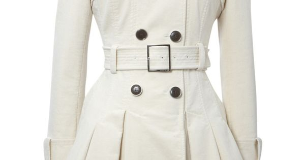 Pleated off white peacoat! If you like my pins, please follow me