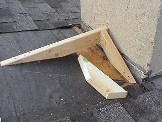 Article About Framing A Roof Saddle To Prevent Water Leakage Where The Roof Meets A Chimney Leaking Roof Building Roof Roof