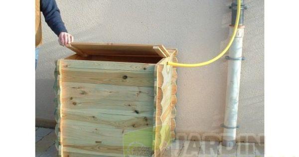 r serve d 39 eau de pluie en bois 420 litres r cup rateur d. Black Bedroom Furniture Sets. Home Design Ideas