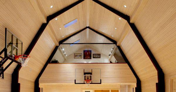 Basketball Court In Barn Basketball Rooms Pinterest