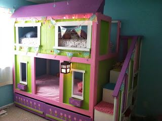 amazing diy modern bedroom furniture | most amazing DIY little girl bunk beds probably in the ...