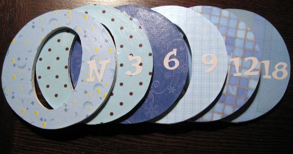 Homemade closet dividers for sizes Newborn to 18 months! Baby boy obviously!