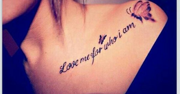 Shoulder tattoo love me and tattoos and body art on pinterest for Tattoos for me