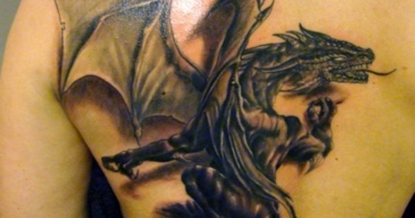 abstract dragon Tattoo Designs | 3D Tattoos of Animals