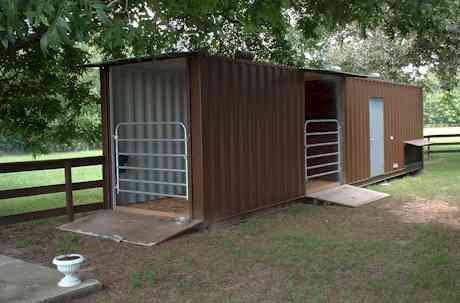 Shipping Container Barn Idea Horse Barn Plans Barn Plans Horse Shelter