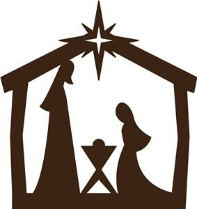 Easy Nativity Silhouette For Children Joseph Mary And Baby