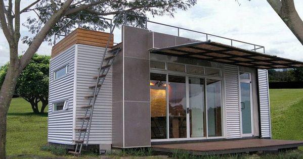 Una casa de vacaciones a partir de un contenedor vivienda - Contenedor maritimo casa ...