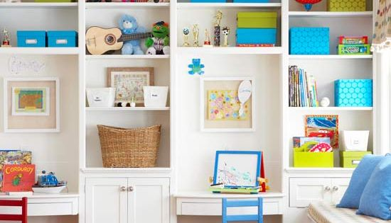 Great built in desks for kids rooms
