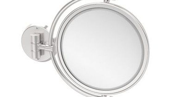 Allied Brass Universal Extendable Mirror Magnification 4x Finish Satin Chrome Allied Brass Extendable Mirrors Unlacquered Brass
