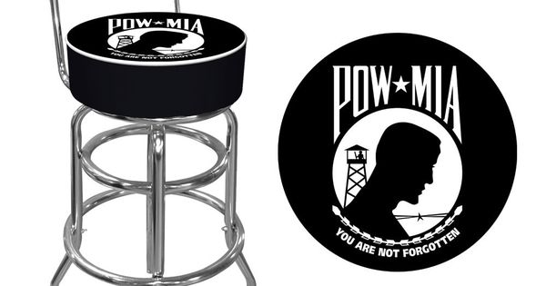 Pow Padded Bar Stool With Back Home Gun Room Pinterest