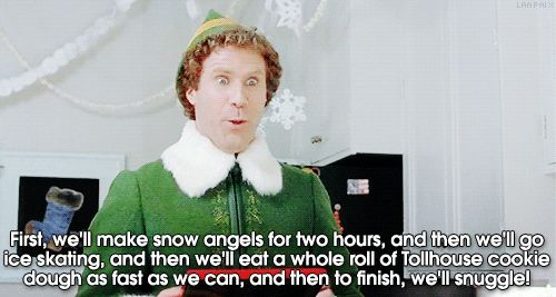 Buddy the elf. Plans for the holidays