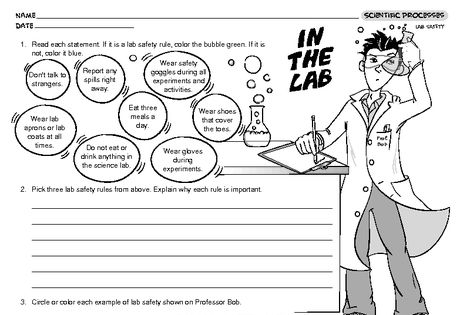 In The Lab Lesson Plans The Mailbox Science Safety Lessons