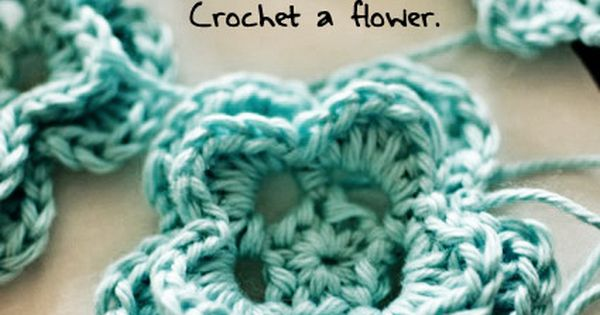 Crochet flowers - for a hat, headband, or just because there are