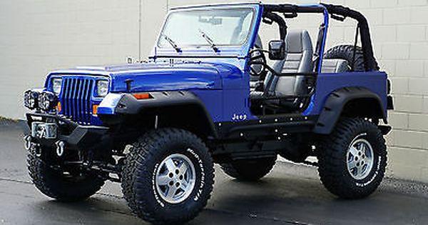 Ebay 1995 Jeep Wrangler Rio Grande Sport Utility 2 Door 1995 Jeep Wrangler Rio Grande Sport Utility Blue Metallic Je Jeep Wrangler 1995 Jeep Wrangler Jeep Yj