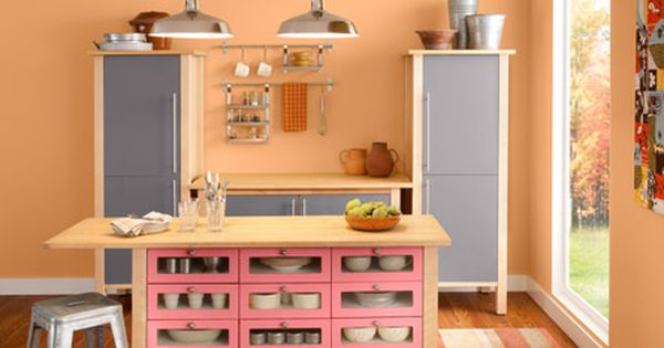 Valspar Apricot Jam Www Oursunnyvilla Com Paint Paint Paint Pinterest Valspar Kitchens