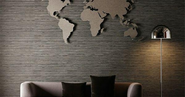 Good Wand im Wohnzimmer Weltkarte als Wanddeko diverses Pinterest Weltkarte Wanddeko und W nde