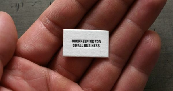 Is this the world's tiniest business card? 'Small card for small business'