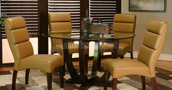 Adele Dining Room Set W Caramel Chairs Cramco Furniture Cart Inspired Dining Rooms