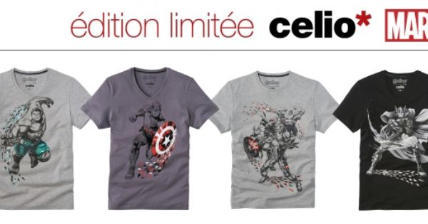 Celio X Avengers | Celio, T shirt et Edition