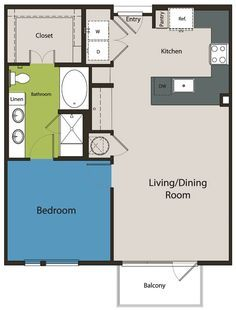 Image Result For 20 X 24 Floor Plan One Bedroom House Small House Plans Tiny House Floor Plans