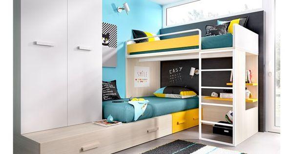 Dormitorio infantil con literas 203 3072015 habitaciones - Literas infantiles divertidas ...