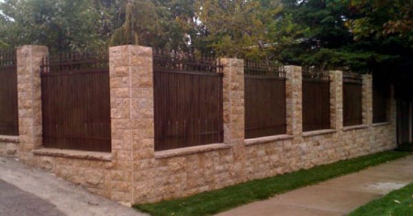 Vinyl Fence Pictures | Fences Brick Vinyl Fence Previous Fence