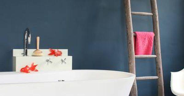 Carreaux De Ciment Dans La Salle De Bain / Ciment Tiles In The Bathroom |  Carrelage, Carreaux De Ciment, Parquet | Pinterest | Wandfarbe Farbtöne,  Fliesen ...