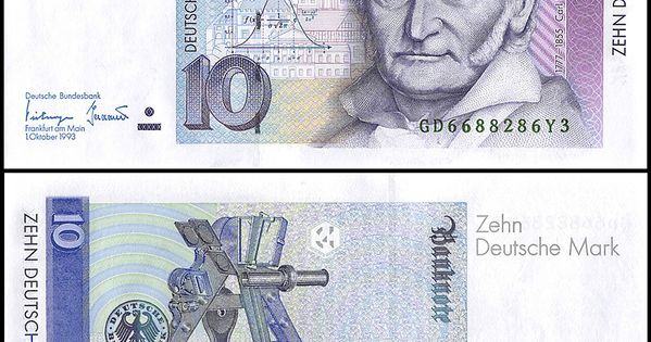Germany Federal Republic 10 Mark Banknote 1993 P 38c Unc In 2020 Bank Notes Money Collection Currency Design