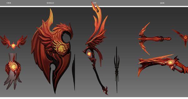Concept Art Character Design Tutorial : Aion concept arts of new item sets daeva s report
