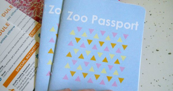 Great for field trips! Zoo Passport Printables with pictures of animals ready