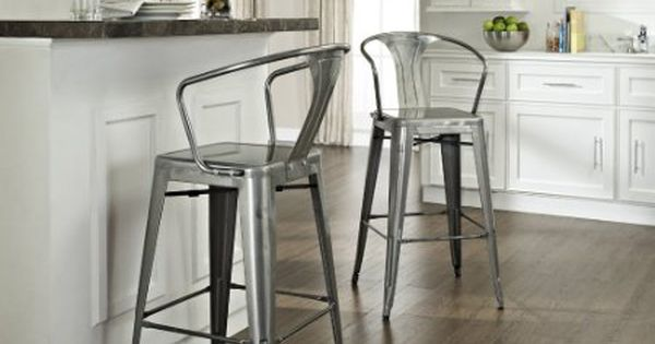 Amazon Com Amelia Metal Cafe Barstool With Back In