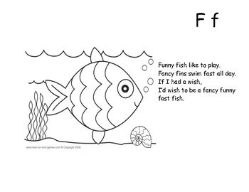 Letter F Fancy Fish - Highlight letter and color Fish ...