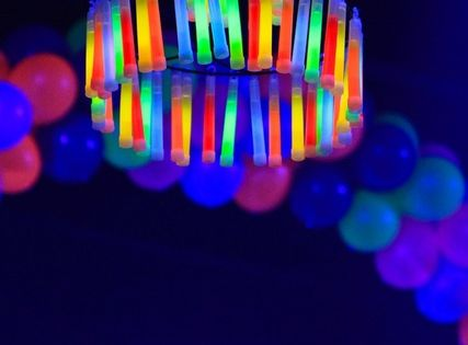 Glow Party Ideas | Glow in the Dark Party from GreyGrey Designs