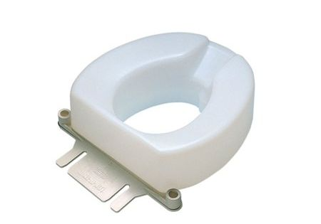 Contoured Elevated Toilet Seat With Slip In Bracket 2 Inch