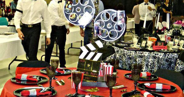 Movie Themed Centerpiece DIY Hollywood Theme