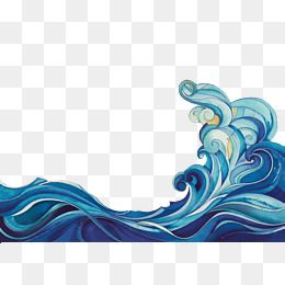 Wave Blue Cartoon Png Material Png Picture Png Picture Material Cartoon Vector Waves Vector Wave Drawing Wave Art Rock Painting Designs
