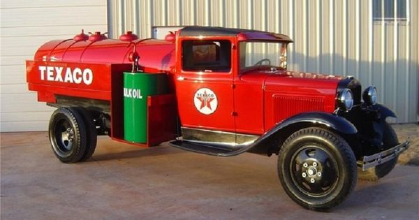 Old Car Dealers >> 1931 FORD MODEL AA TEXACO GAS TANKER TRUCK | Old Gas Stations, Car Dealers, Service Garages,Gas ...