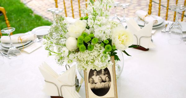 Family reunion centerpieces table decorations http